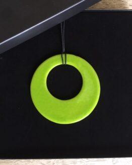 limegrøn glasring i æske