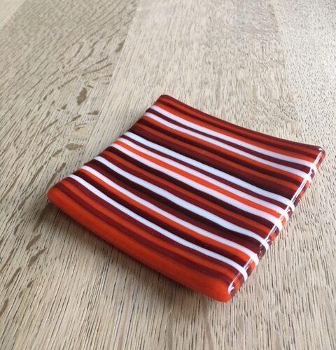 Rød orange lille sæbeskål
